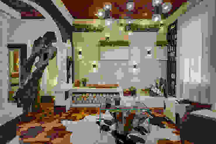 Living da lareira Salas de estar modernas por Guaraúna Revestimentos Moderno