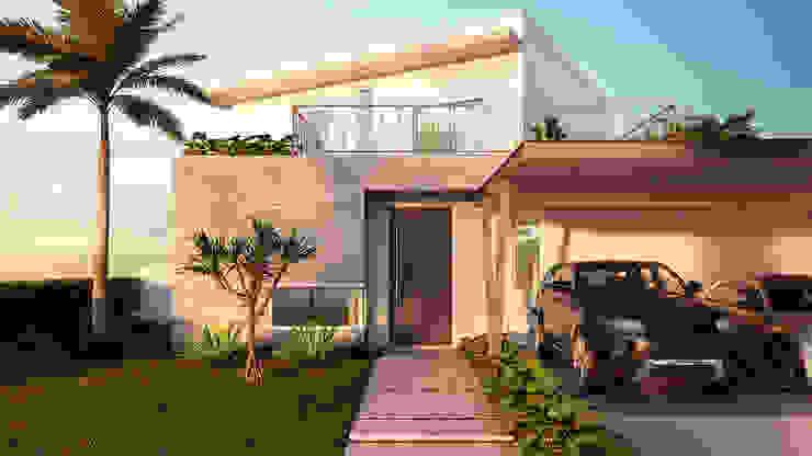 """Anteprojeto """"Casa das Vistas"""" 11m Arquitetura Casas modernas"""