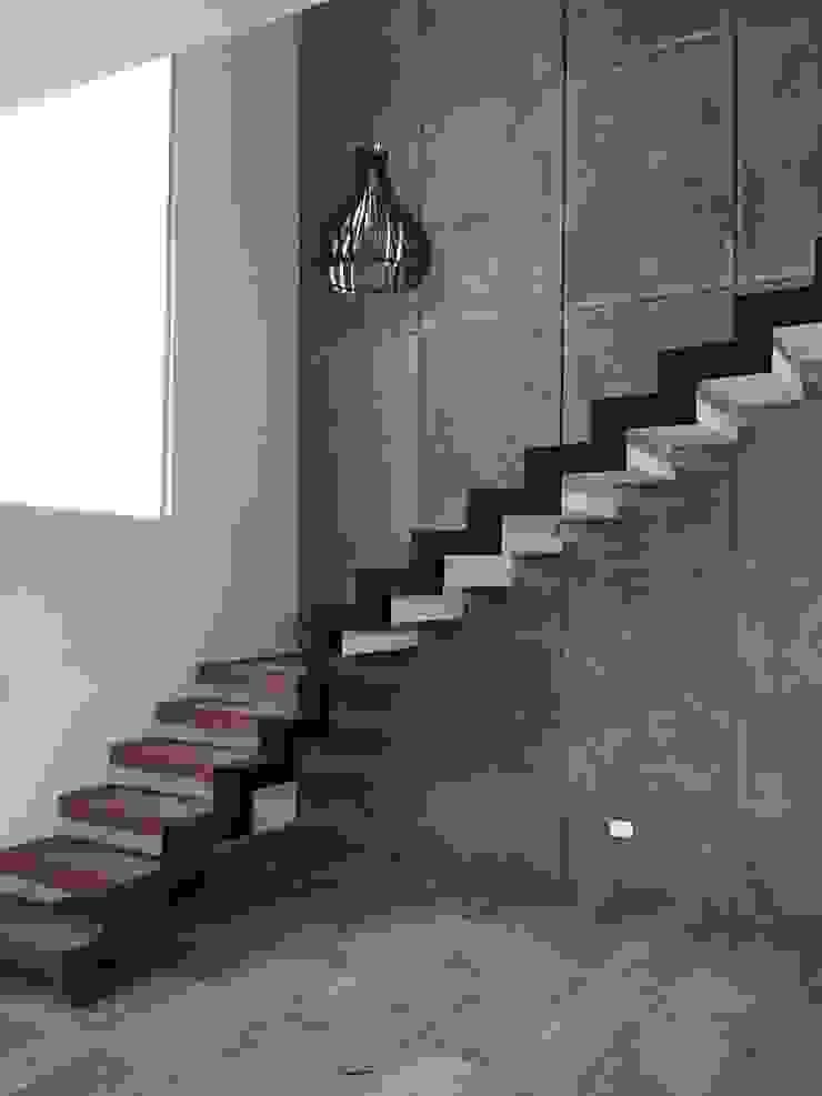 el hito de la casa Ma&Co Pasillos, vestíbulos y escaleras modernos Concreto