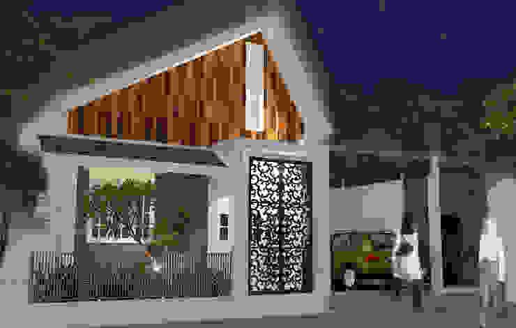 Mr. Deny House by Griya Cipta Studio Tropical Wood Wood effect