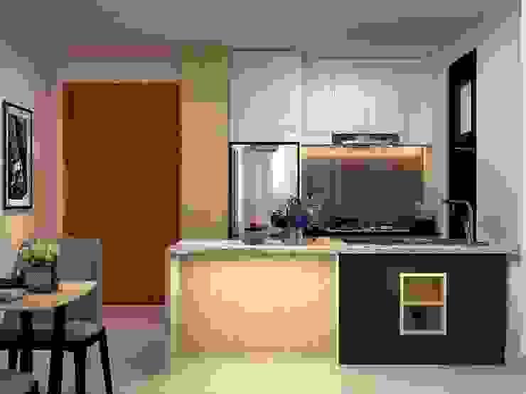 Thiết kế nội thất căn hộ chung cư nhà anh Phú - Masteri Thảo Điền: hiện đại  by Nội Thất Hoàng Gia, Hiện đại
