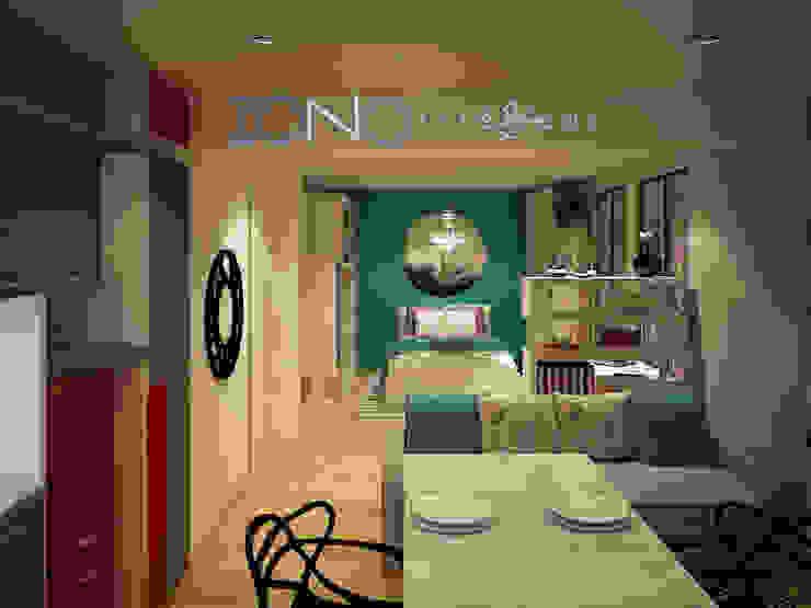 Vista departamento Livings de estilo moderno de Zono Interieur Moderno
