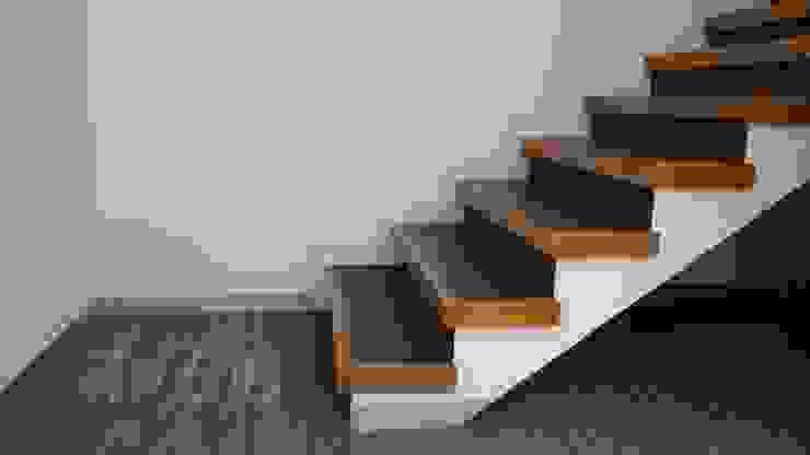 Pasillos, vestíbulos y escaleras de estilo moderno de TP618 Moderno Madera maciza Multicolor