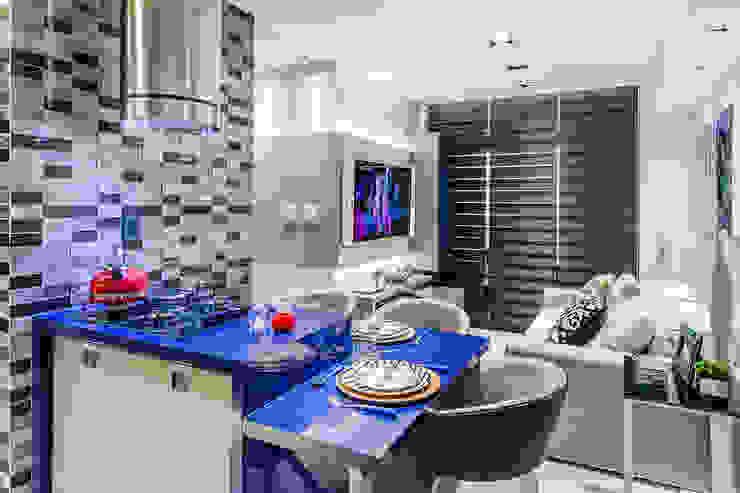 Arquitetura Sônia Beltrão & associados Kitchen units MDF Grey