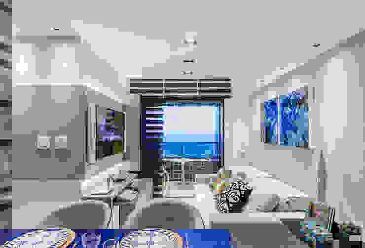 Arquitetura Sônia Beltrão & associados Modern Living Room Glass Grey