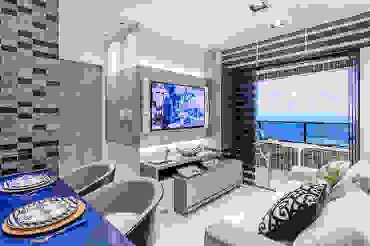 Arquitetura Sônia Beltrão & associados Modern Living Room MDF Grey