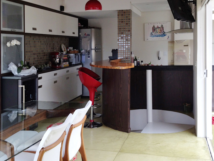 Sala de Jantar - Copa - Cozinha por RC|a+d Arquitetura Moderno