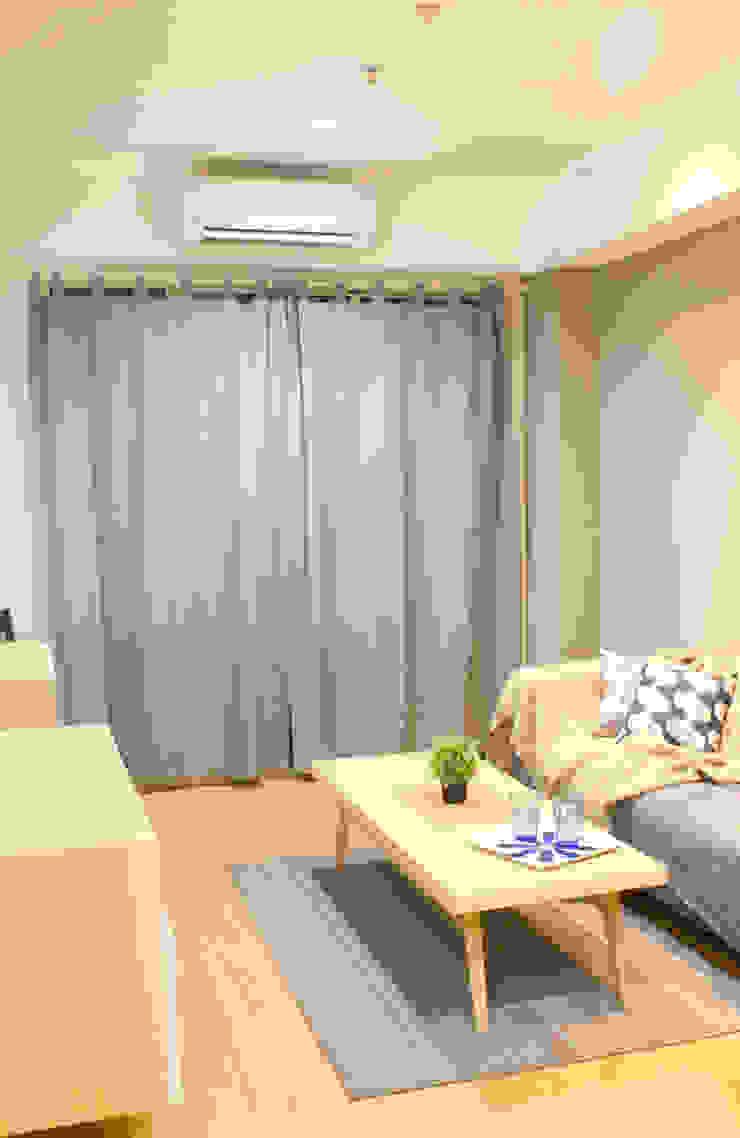 Living Room Ruang Keluarga Gaya Skandinavia Oleh TIES Design & Build Skandinavia