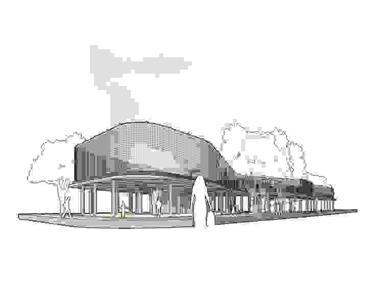 Tambaksari Street Vendor Center Ruang Komersial Gaya Industrial Oleh ordes arsitektur Industrial Beton