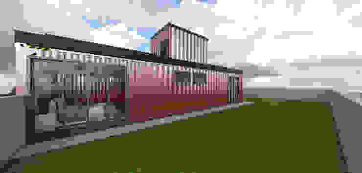 Residência em Containers - Bombinhas/SC Casas modernas por Petillo Arquitetura Moderno Metal
