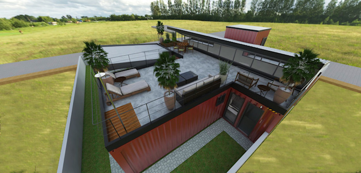 Residência em Containers – Bombinhas/SC Casas modernas por Petillo Arquitetura Moderno Metal