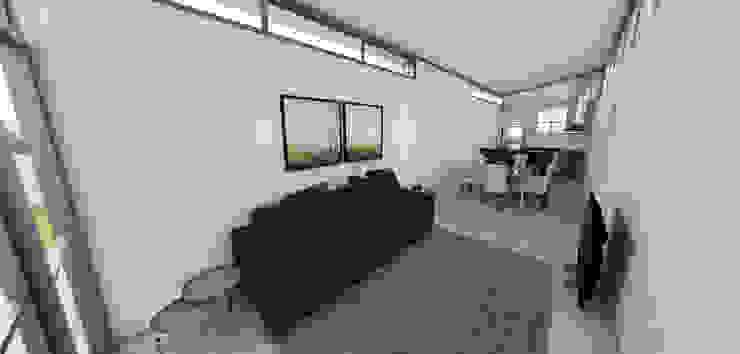 现代客厅設計點子、靈感 & 圖片 根據 Petillo Arquitetura 現代風 MDF