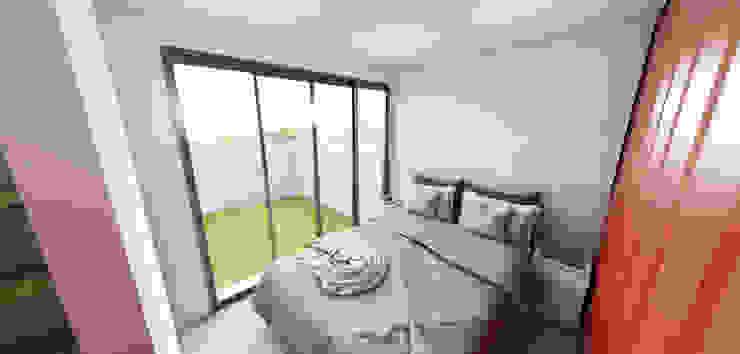 Residência em Containers - Bombinhas/SC Petillo Arquitetura Quartos modernos MDF Branco