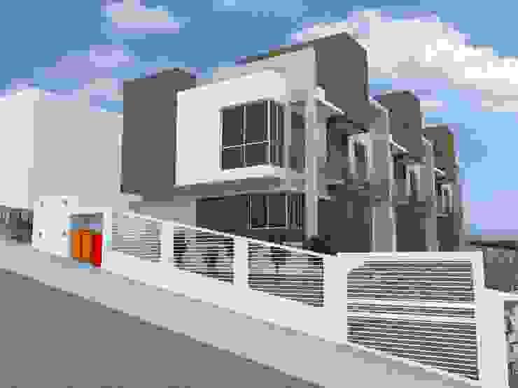 Casas Geminadas na Carvoeira por Cadu Martins Arquiteto e Urbanista Moderno Tijolo