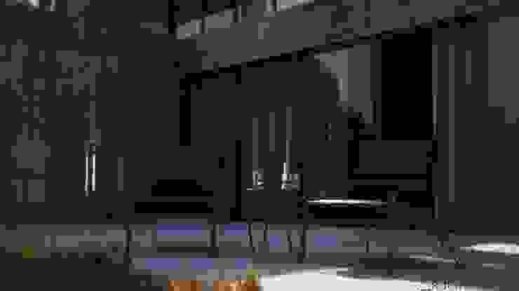 Terraza V Arquitectura Balcones y terrazas modernos Concreto Gris