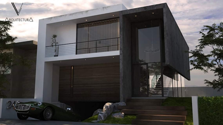 V Arquitectura Terrace house Concrete Grey