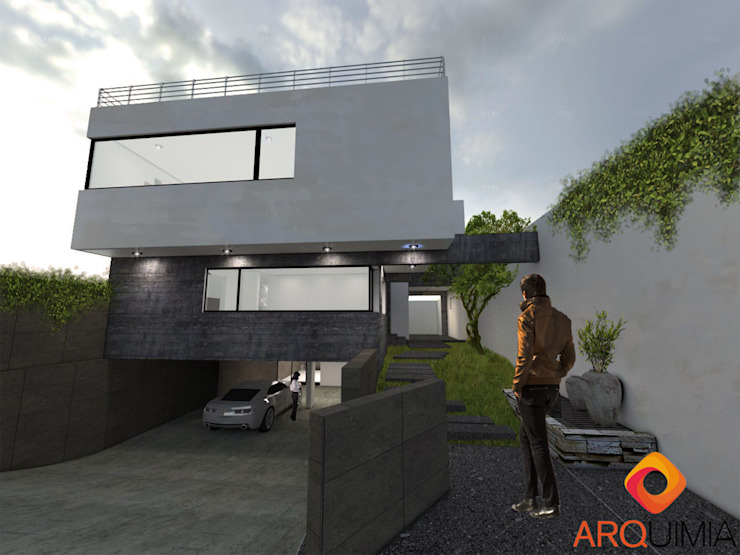 Arquimia Arquitectos Single family home Concrete White