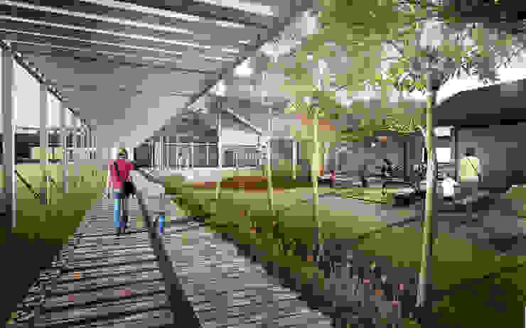 Clinic courtyard Klinik Tropis Oleh Sanny Yuwono Tropis