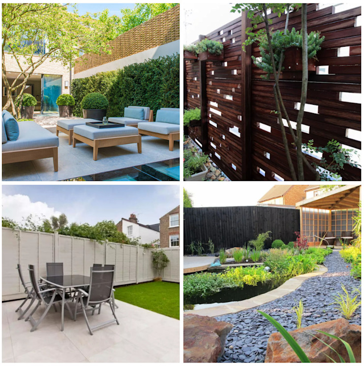 CO Collage Jardines de estilo moderno de press profile homify Moderno