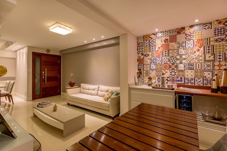 Rustic style living room by DM ARQUITETURA E ENGENHARIA Rustic Wood Wood effect