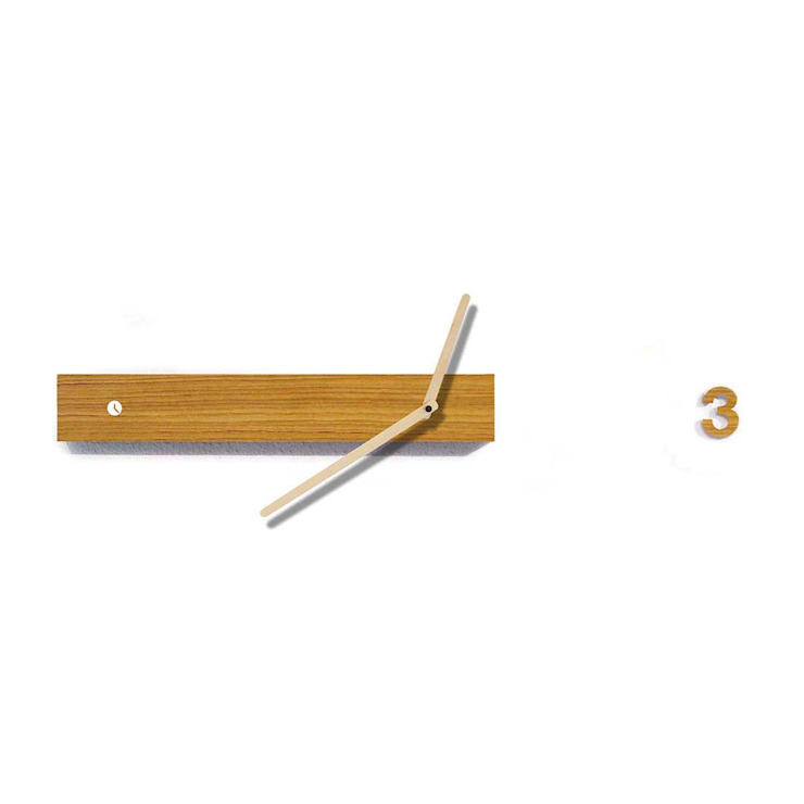 Tothora Track 60 H Wall Clock: modern  by Just For Clocks,Modern Wood Wood effect