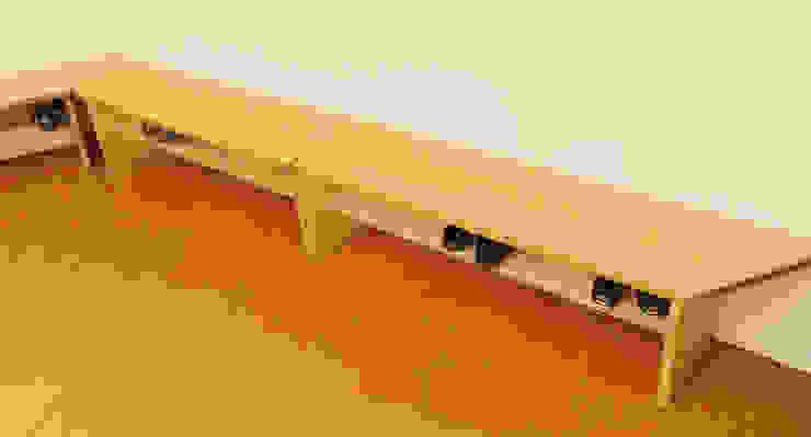 Neue Bänke zum Sitzen und Schuhe lagern Schreinerei & Innenausbau Fuchslocher Moderne Schulen