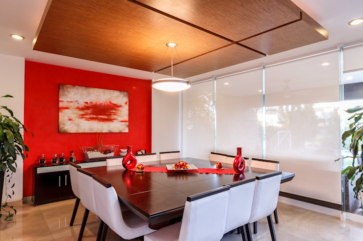 Столовая комната в стиле модерн от SANTIAGO PARDO ARQUITECTO Модерн