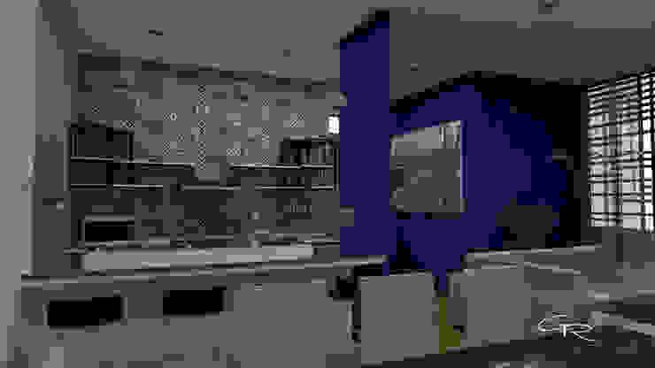 par GT-R Arquitectos Moderne Bois Effet bois