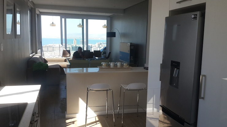 Kitchen Island + Granite Counter Top Sea Point by CPT Painters / Painting Contractors in Cape Town