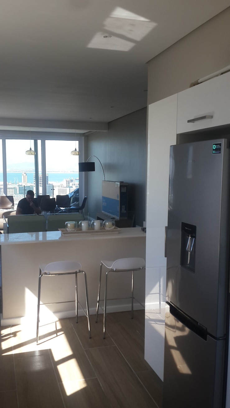 Kitchen Granite Island Installed Sea Point by CPT Painters / Painting Contractors in Cape Town