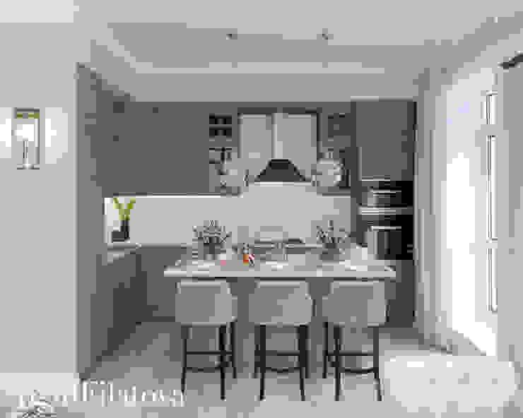Nhà bếp phong cách chiết trung bởi FilatovaInteriors Chiết trung