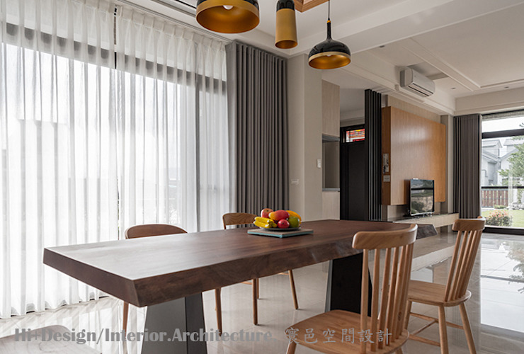 Salle à manger moderne par Hi+Design/Interior.Architecture. 寰邑空間設計 Moderne