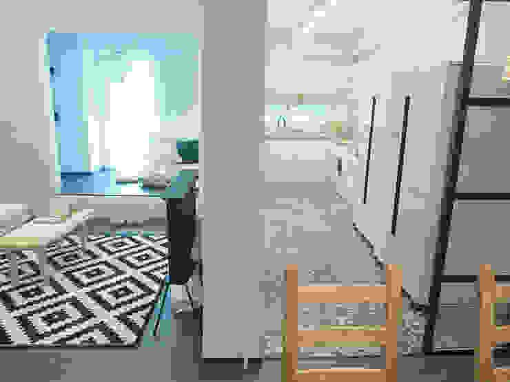 압구정 한양아파트 리모델링 모던스타일 다이닝 룸 by 달달하우스 모던