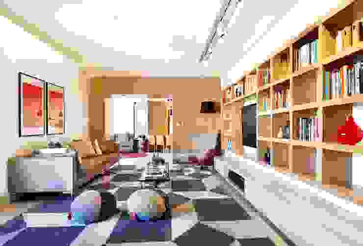 Kika Tiengo Arquitetura Modern living room