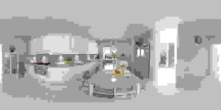 arquitecto9.com Вбудовані кухні Бетон Білий