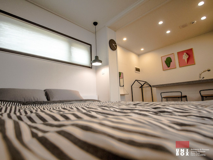 Couple Room Interior View 모던 스타일 호텔 by (주)감동C&D 유니박스 모던