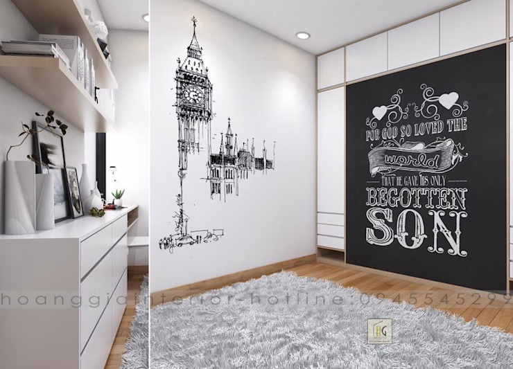 Thiết kế nội thất căn hộ chung cư Park Hill Time city – nhà anh Linh bởi Nội Thất Hoàng Gia Bắc Âu