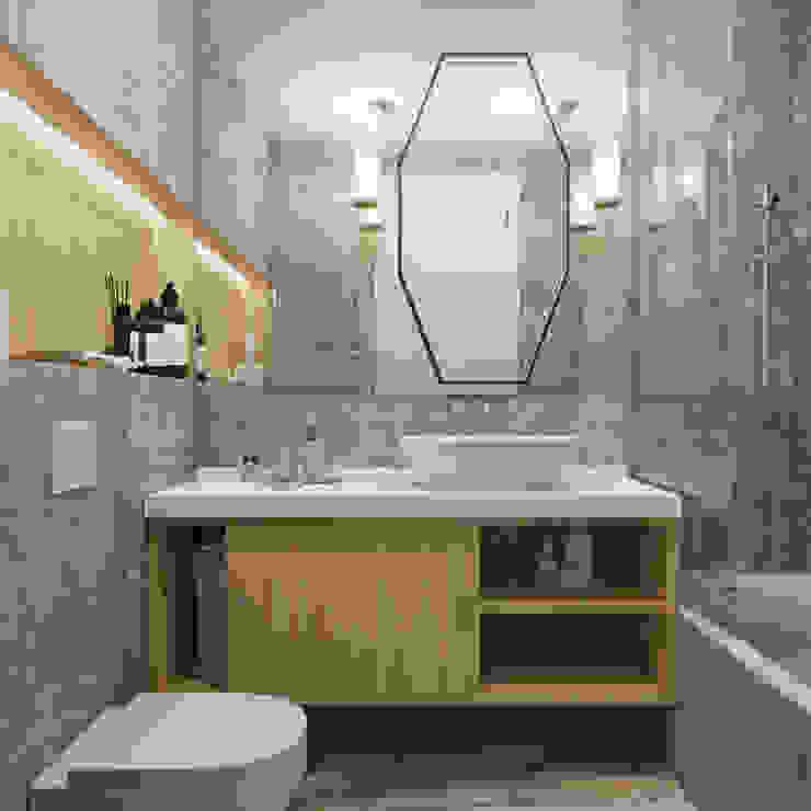 Baños de estilo ecléctico de Студия дизайна интерьера Натальи Патрушевой Ecléctico
