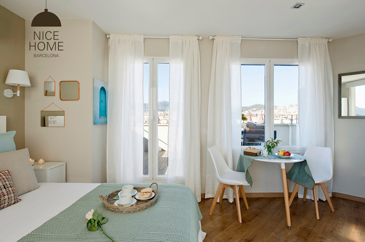 Nice home barcelona Mediterranean style dining room