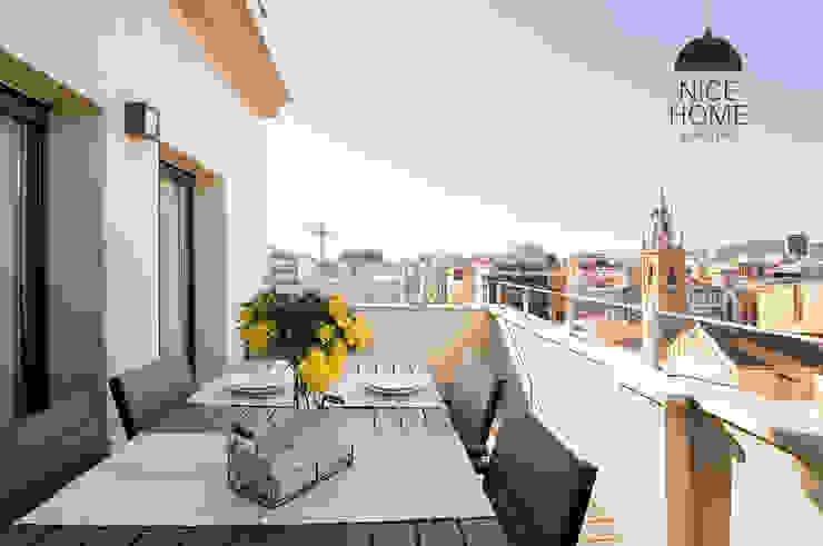 Nice home barcelona Mediterranean style balcony, porch & terrace