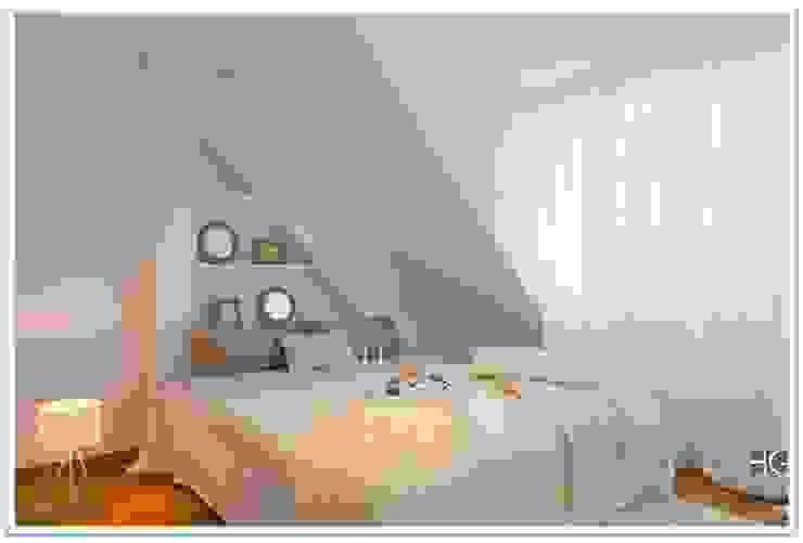 Münchner home staging Agentur GESCHKA Minimalist bedroom