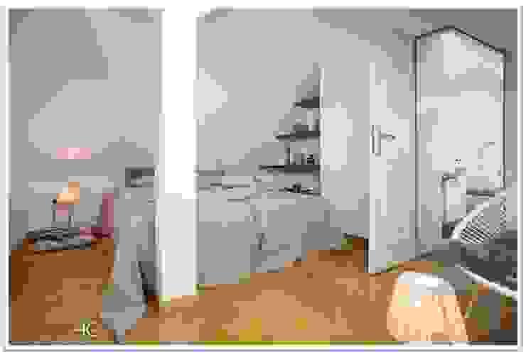 Münchner home staging Agentur GESCHKA Minimalist bedroom Beige