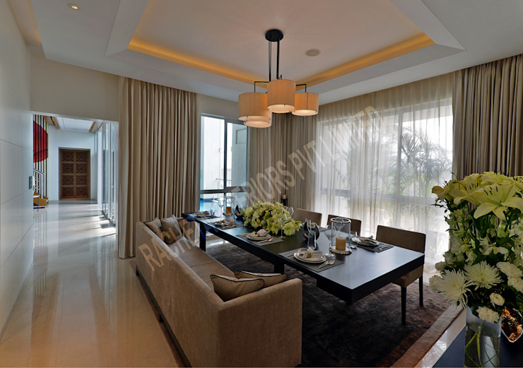 Residence at Pune Modern dining room by Racheta Interiors Pvt Limited Modern