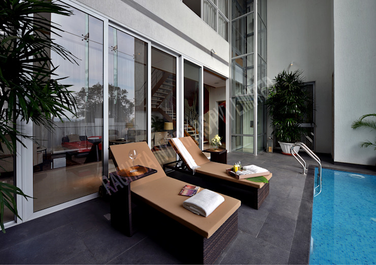 Residence at Pune Modern pool by Racheta Interiors Pvt Limited Modern