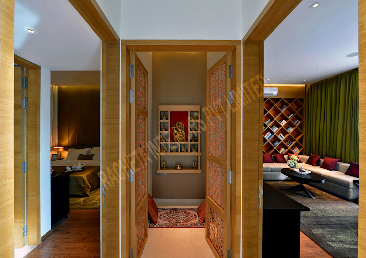 Residence at Pune Modern corridor, hallway & stairs by Racheta Interiors Pvt Limited Modern