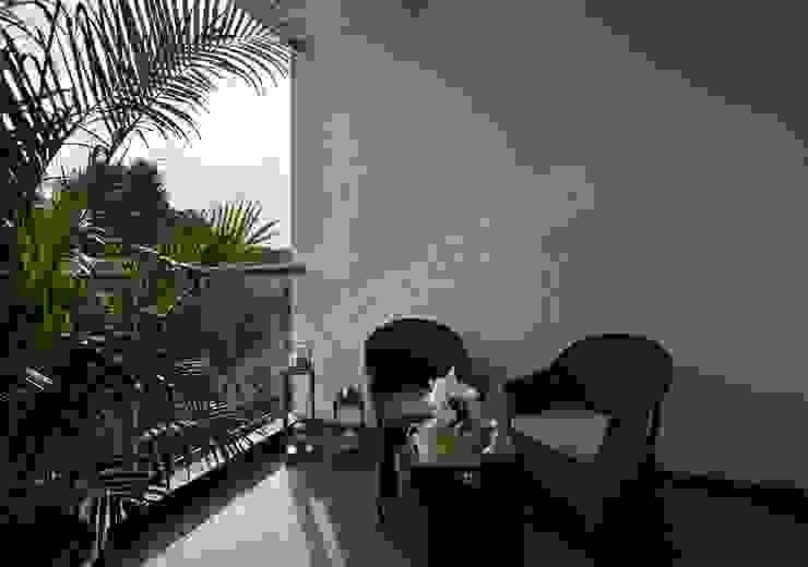 Residence at Pune Modern balcony, veranda & terrace by Racheta Interiors Pvt Limited Modern