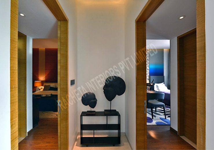 Residence at Pune Modern corridor, hallway & stairs by Racheta Interiors Pvt Limited Modern