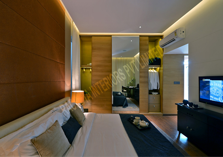 Residence at Pune Modern style bedroom by Racheta Interiors Pvt Limited Modern