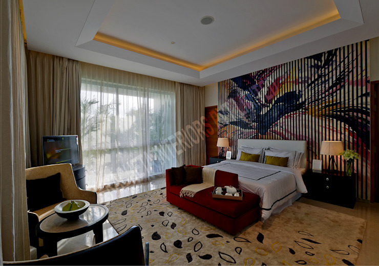 Residence at Pune Racheta Interiors Pvt Limited Modern style bedroom