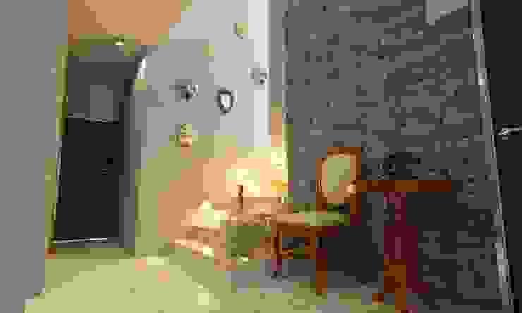 RECIBIDOR OLLIN ARQUITECTURA Pasillos, vestíbulos y escaleras modernos Piedra Multicolor